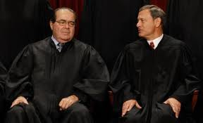 Justice Scalia with Chief Justice Roberts