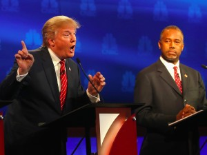 Trump Carson - third Republican debate