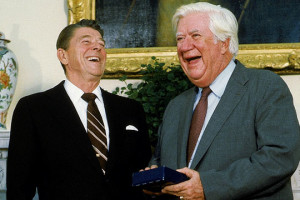 Oneil Tip and Ronald Reagan