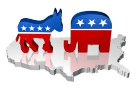 Republican and Democratic mascots