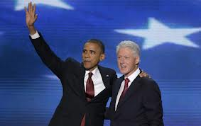 Obama with Clinton