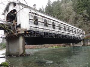 Goodpasture Covered Bridge 2013 getting tightened