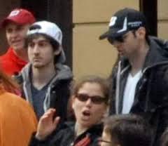 Boston Bombers before blast looking upset